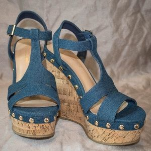 Reagan Denim Wedge